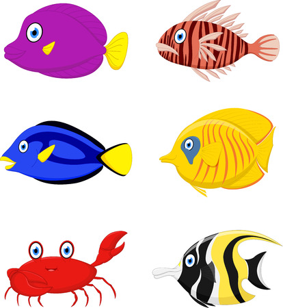 cartoon fish: Tropical fish cartoon