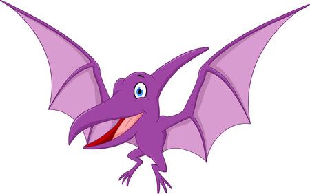pterodactyl: Happy Pterodactyl cartoon Illustration