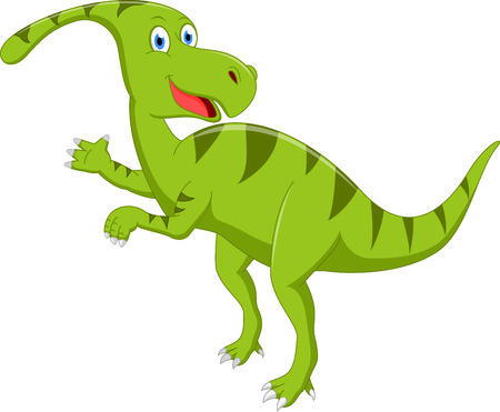 baby smile: Happy dinosaur cartoon