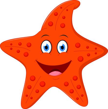 Szczęśliwy kreskówka Starfish Ilustracje wektorowe