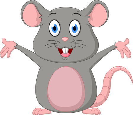 animal finger: Cute mouse cartoon Illustration
