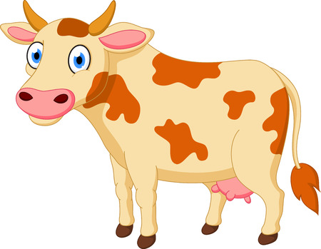 cow vector: Cute cow cartoon Illustration