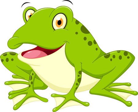 frog green: Cute frog cartoon