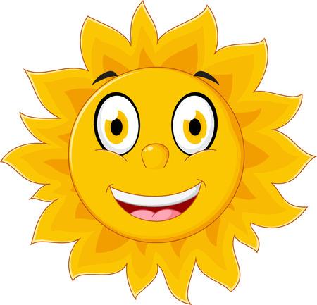 sun cartoon: Happy sun cartoon character Illustration