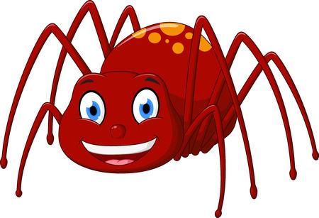 귀여운 거미 만화 일러스트
