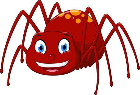 spider web: Cute spider cartoon