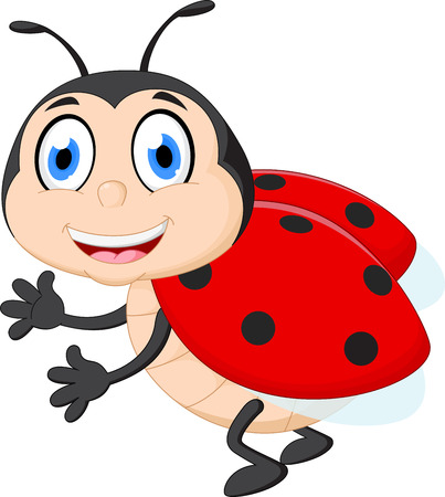 mariquita cartoon: Cute ladybug cartoon