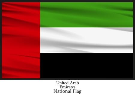 emirates: National Flag of United Arab Emirates