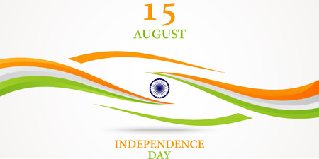 indian flag: Indian Independence Day background Illustration