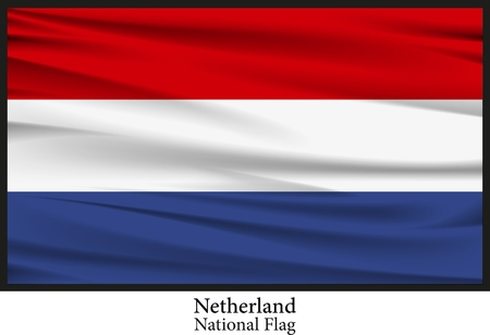 netherland: National Flag of Netherland Illustration