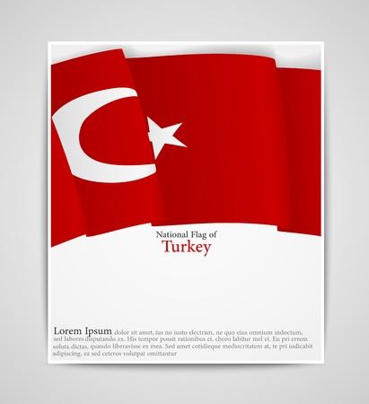 brochure du drapeau national de la Turquie Vecteurs