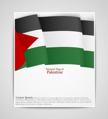 palestine: National flag brochure of Palestine
