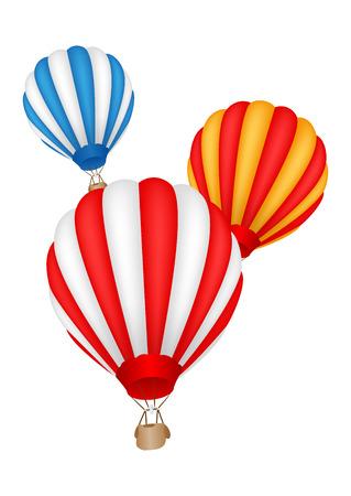 다채로운 뜨거운 공기 풍선 일러스트