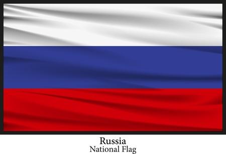 edel: National flag of Russia Illustration