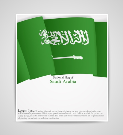 sheik: National flag brochure of Saudi Arabia