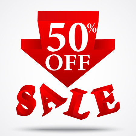 reductions: Sale and discount design Illustration