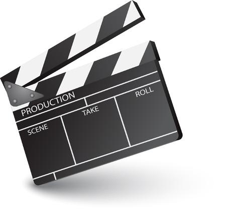 clapperboard: film clapperboard open sign