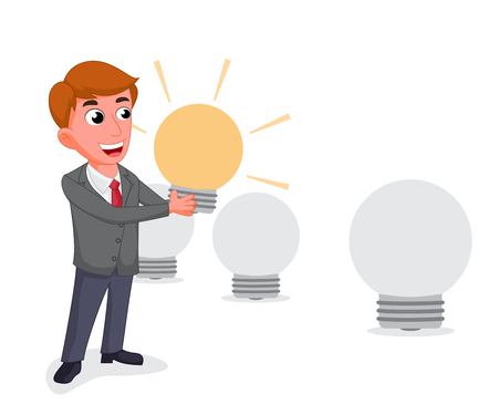 best employee: businessman selecting the best employee Illustration