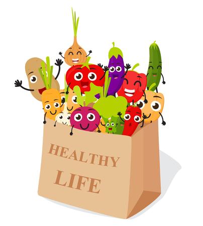 Funny Cartoon Vegetables