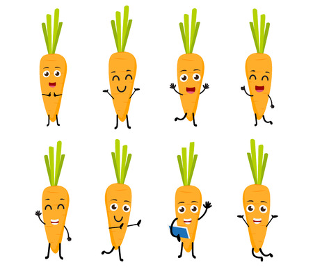 blushing: Happy Carrot cartoon character