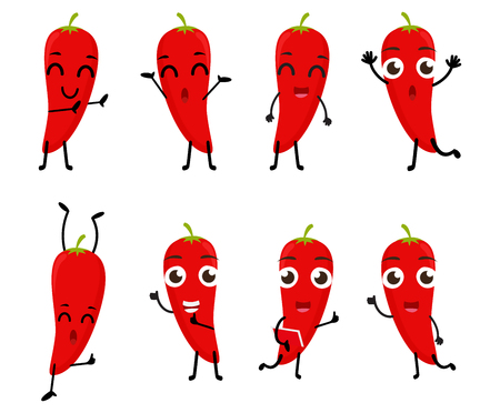 spicy mascot: Happy Chili cartoon character