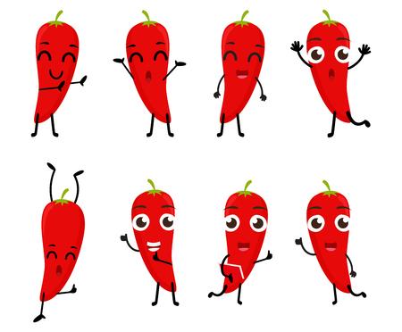 spicy mascot: Happy Chili cartoon character