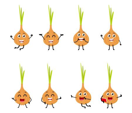 onion cartoon character Illustration