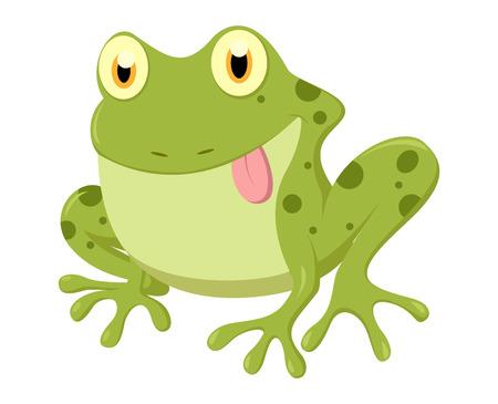 croaking: Cute Frog cartoon