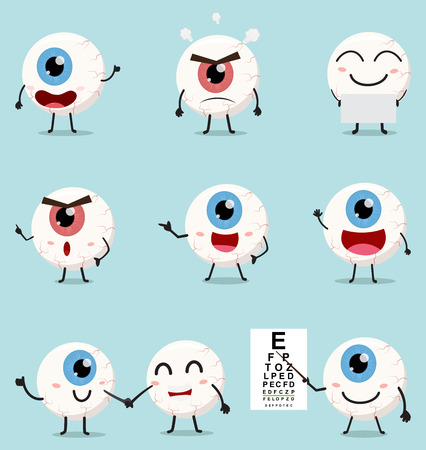 Cartoon eye ball collection set