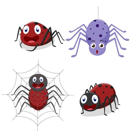 hairy legs: Cute spider cartoon