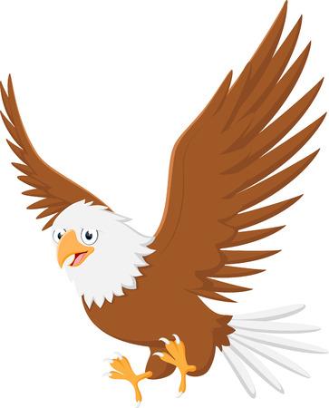 Cute eagle cartoon flying Çizim