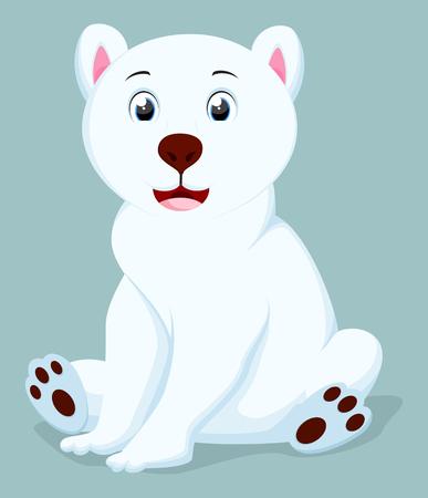 귀여운 북극곰 만화 일러스트