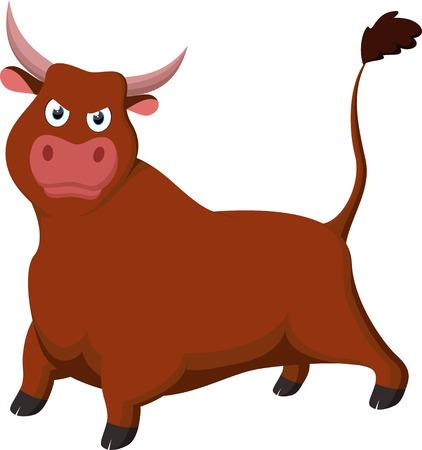Angry Bull cartoon Çizim