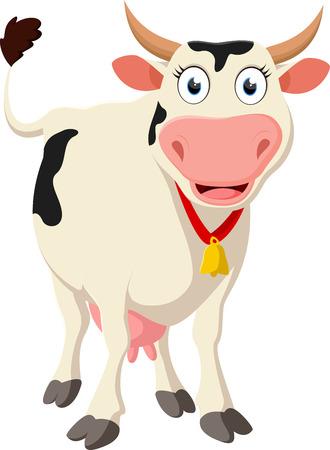 Happy Cow cartoon standing Çizim