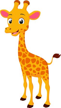 Cute Giraffe cartoon Çizim