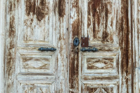 transom: The Old Door with Cracked Paint Background