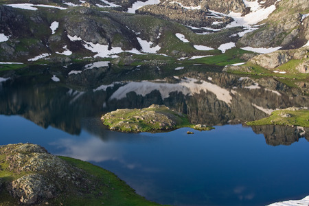 Mountain reflection over lake. Kackar Mountains photo