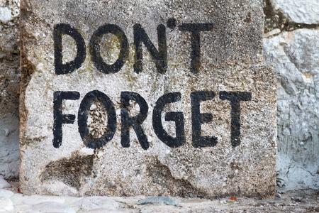 bosnia hercegovina: Dont Forget text in Mostar, Bosnia Hercegovina