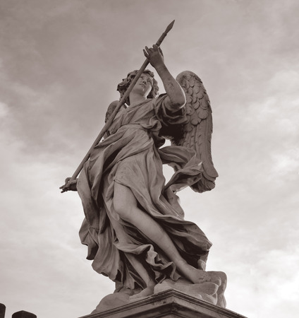 castel: statue Castel santangelo rome, italy Editorial