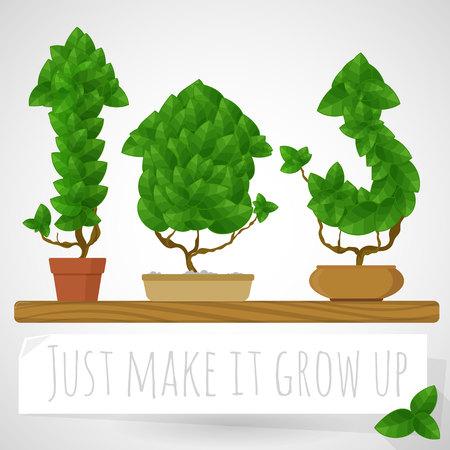 Green growing arrows