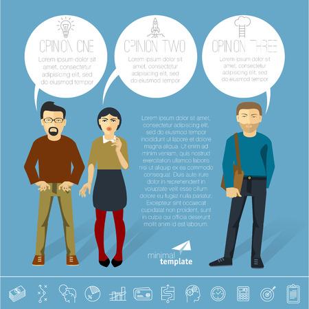 demografia: Business communication and teamwork infographics. Vector template.