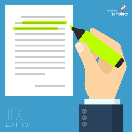 Man hands filling form. Hand holding tax form, insurance claim, and flat pen. Creative flat design vector concept for web banners, web sites, infographics, and etc.