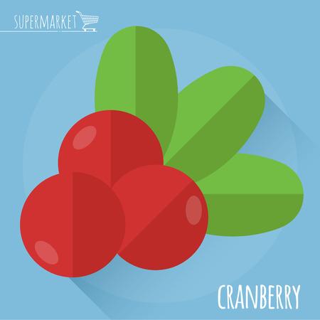 Cranberry flat design icon