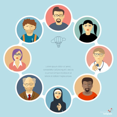 Human infographics. Vector template. Illustration