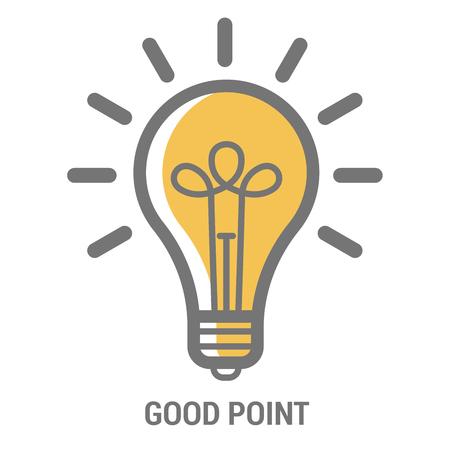 Icon Template For Poster Of Creative New Bright Idea Stock Vector