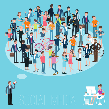 Isometric people crowd. Demographic and public opinion flat design vector template.