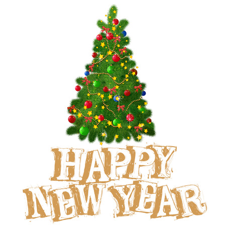 Christmas and new year  vector greeting card, poster and banner template. Banque d'images - 116472589