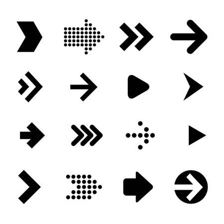 Flat design vrctor arrows amd pointers icon set.