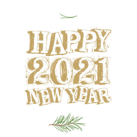 2021 new year vector template for Merry Christmas and happy new year. Vector Illustration Ilustracja