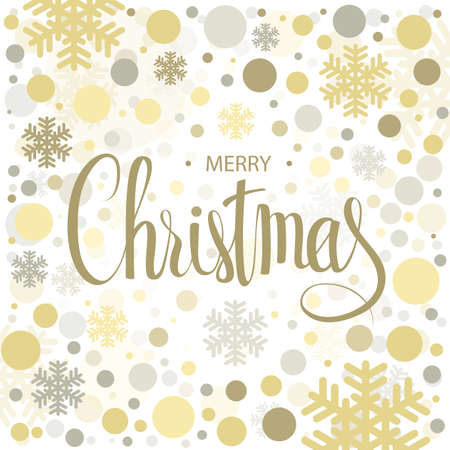 Merry Christmas Calligraphic lettering inscription. Vector tenplate for Christmas greeting card, banner, web page and mobile app.